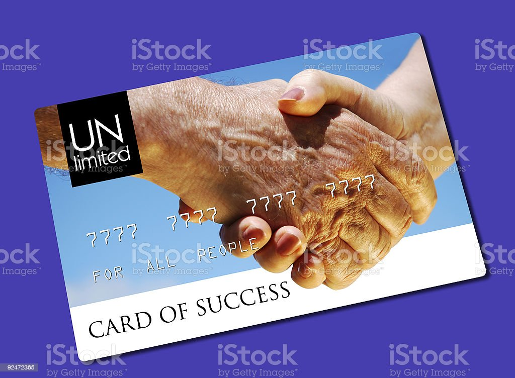 card of success royalty-free stock photo