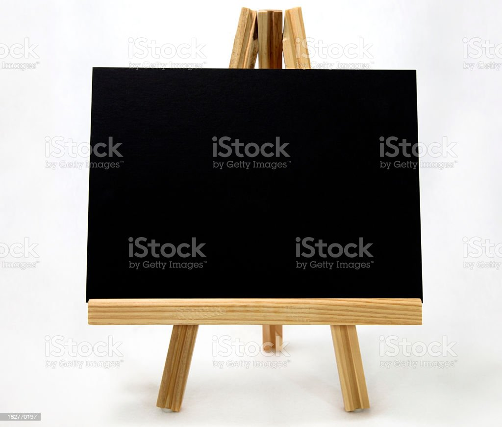 Card on Easel royalty-free stock photo