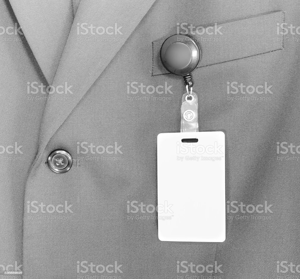 ID Card, or Identity Badge on a business suite stock photo