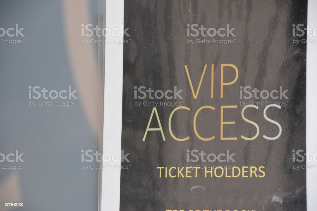 VIP card stock photo