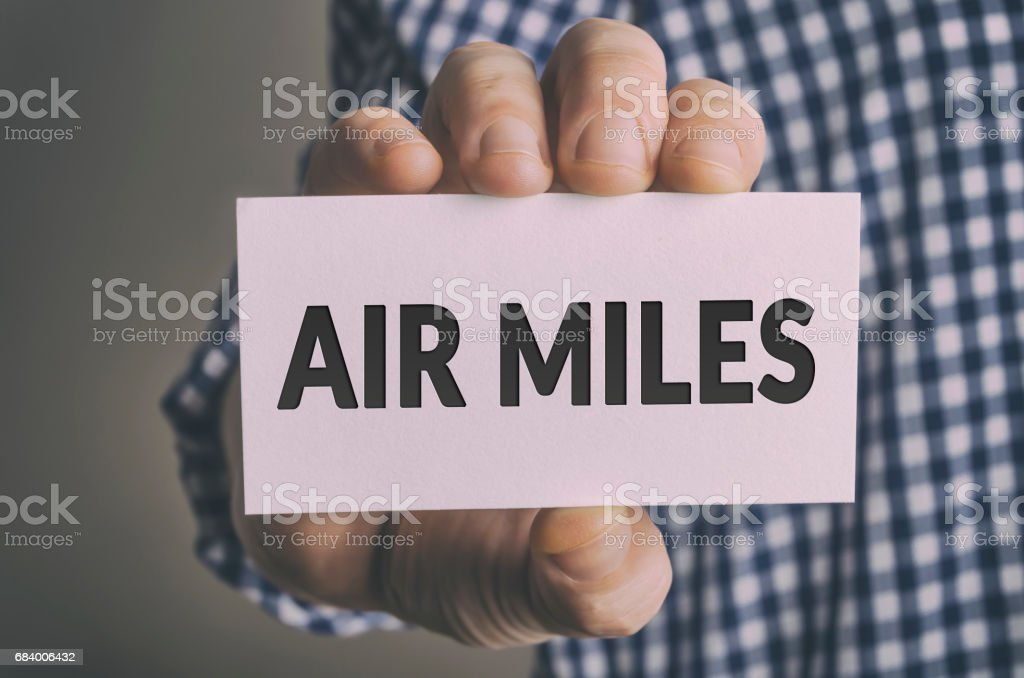 AIR MILES card stock photo