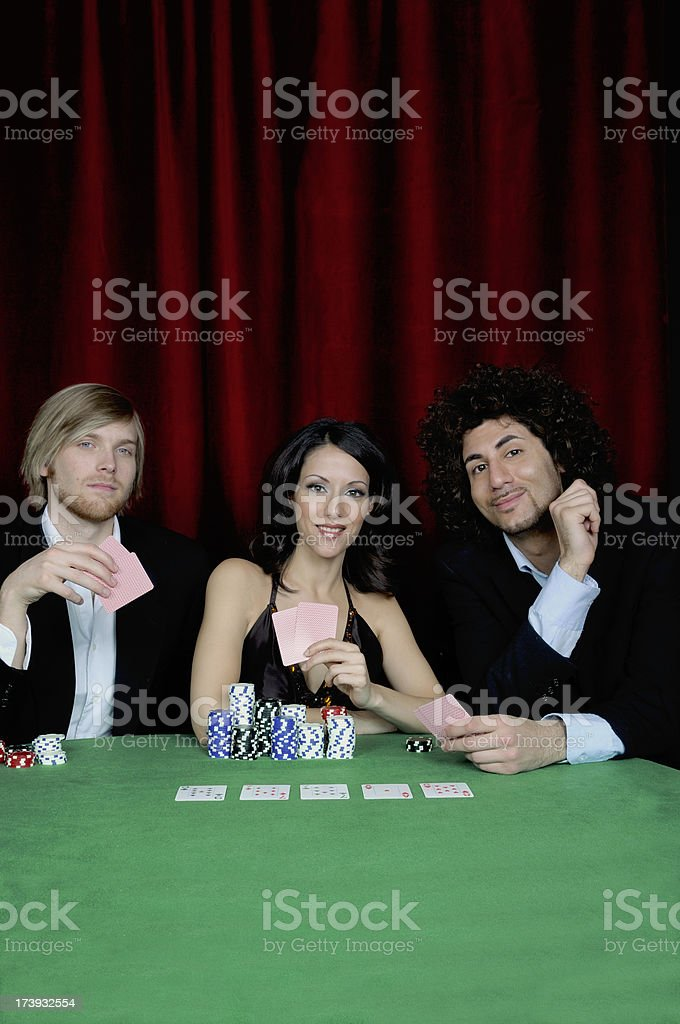 Card players at a casino royalty-free stock photo