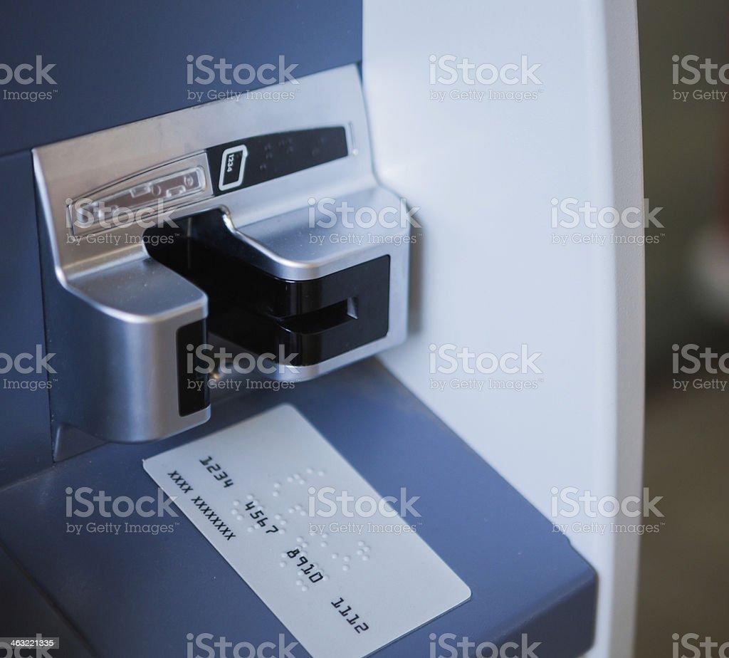 Carta bancomat slot - foto stock