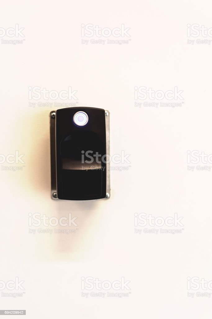 Card Swipe Electronic Door Device stock photo