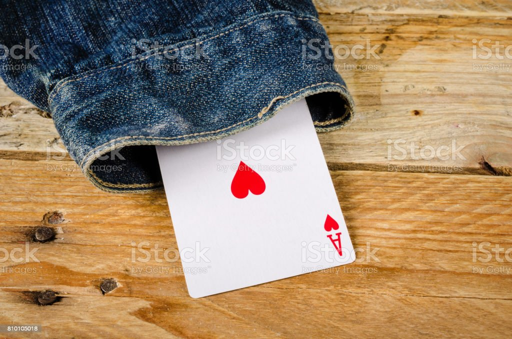 Card up the sleeve stock photo