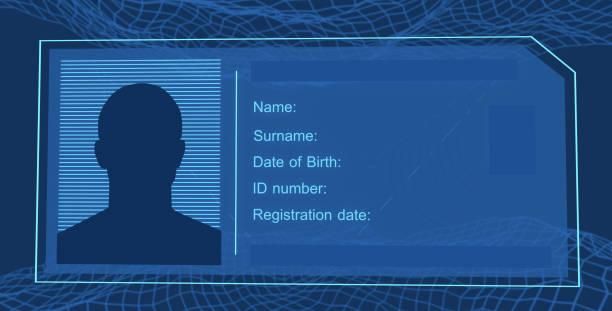 ID card visualization stock photo
