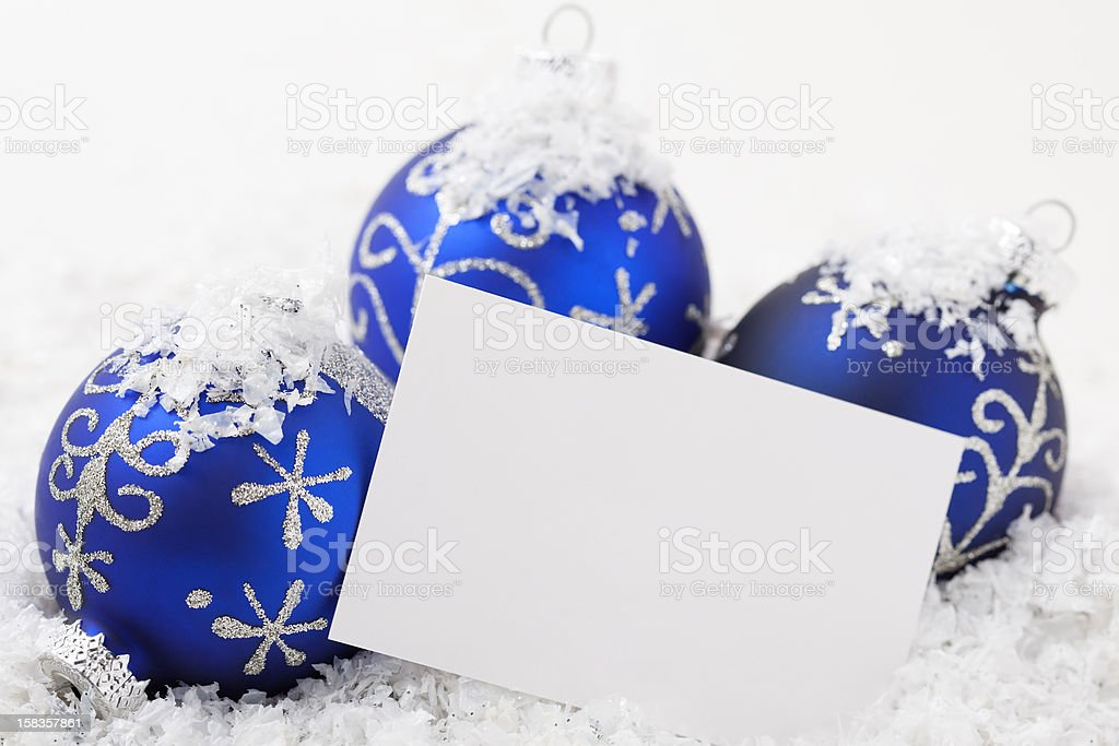Card with Christmas Ornament has space for text royalty-free stock photo