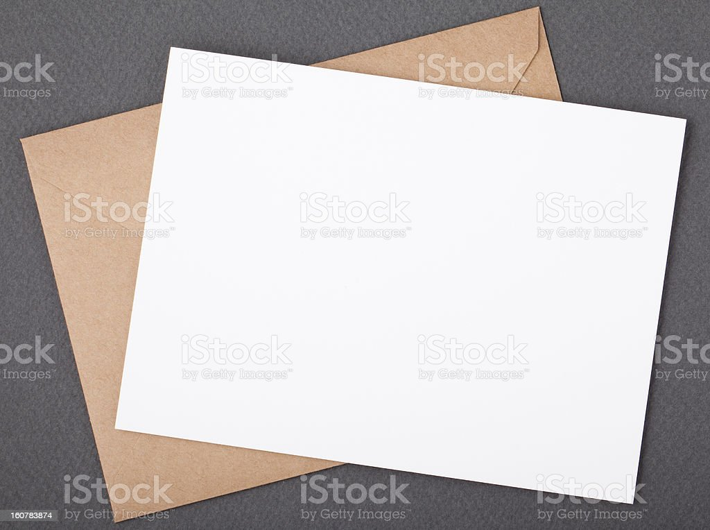 Card with envelope,has space for text. stock photo