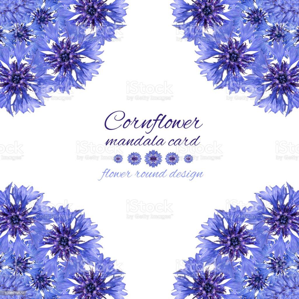 Photo Libre De Droit De Carte Avec Mandala Fleur Dessin Circulaire