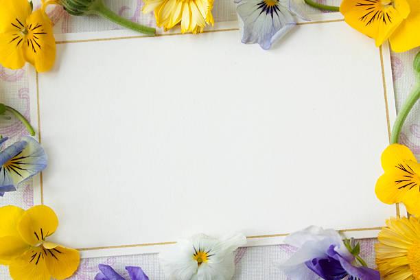 Carte avec des fleurs - Photo