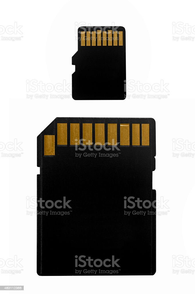 SD Card with Micro SD card stock photo