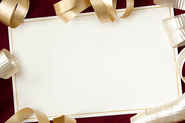 karte mit rüschen. - verlobungsfeier einladungen stock-fotos und bilder