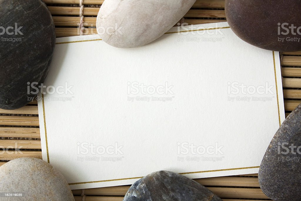 Card with stones. stock photo