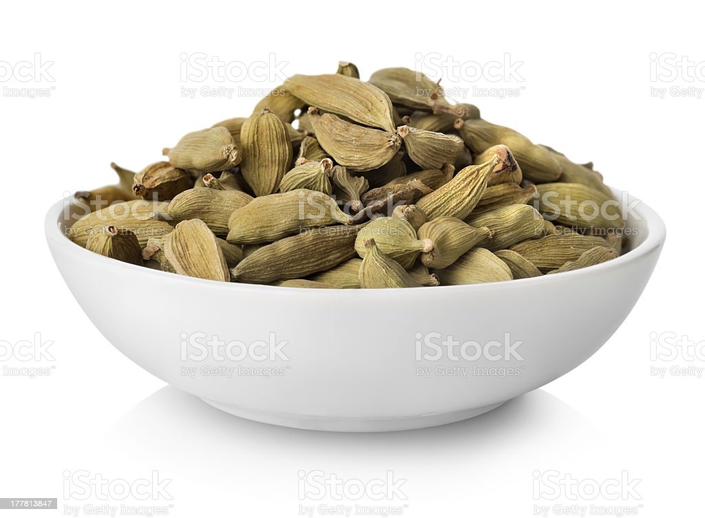 Cardamom in plate royalty-free stock photo
