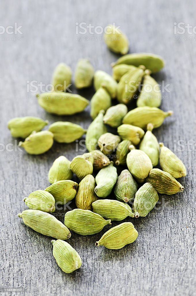 Cardamom seed pods stock photo