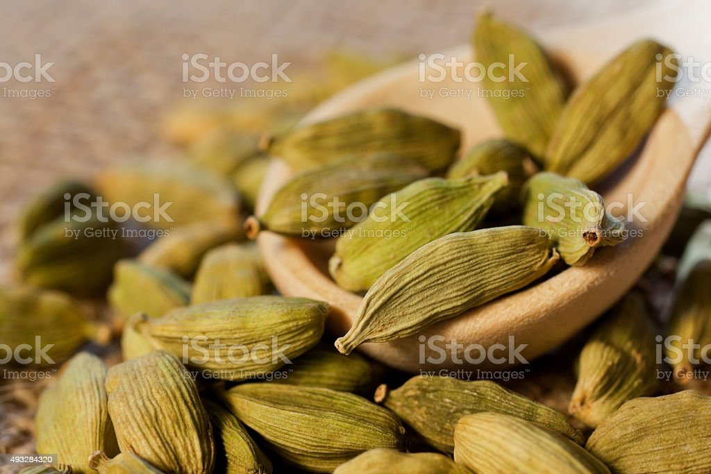 Cardamom spice stock photo