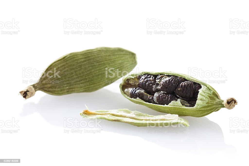Cardamon Pods stock photo