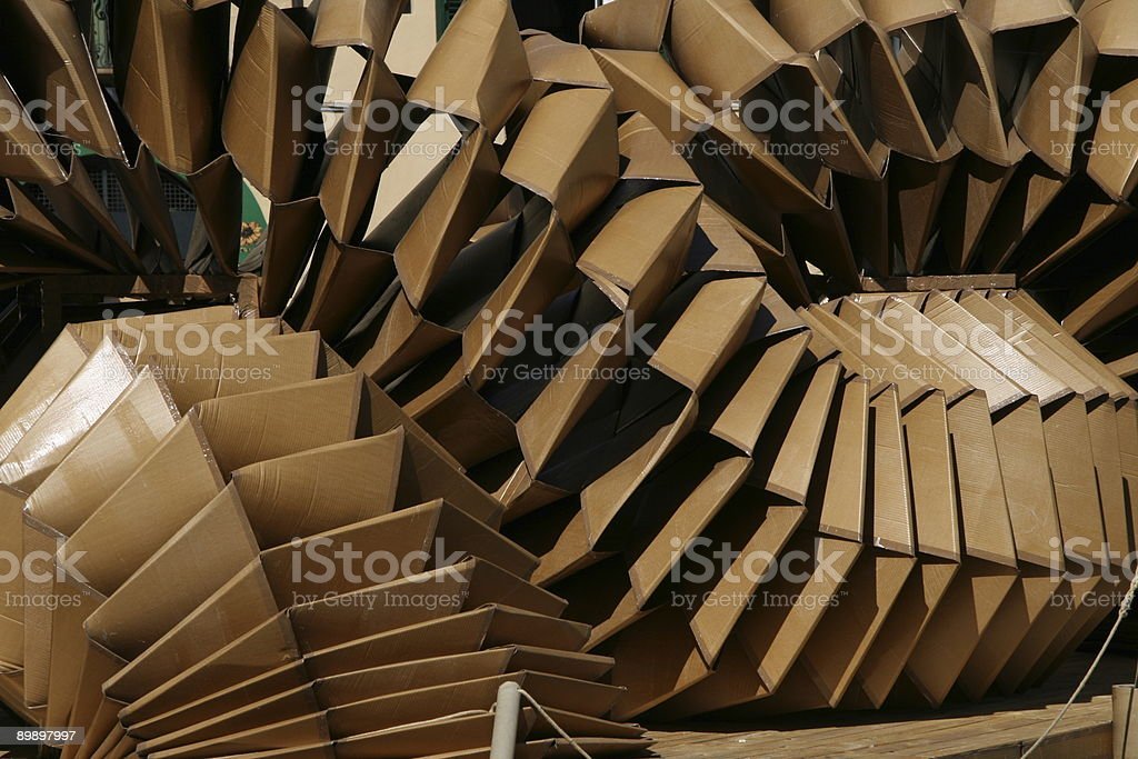 Cardboard  art royalty-free stock photo