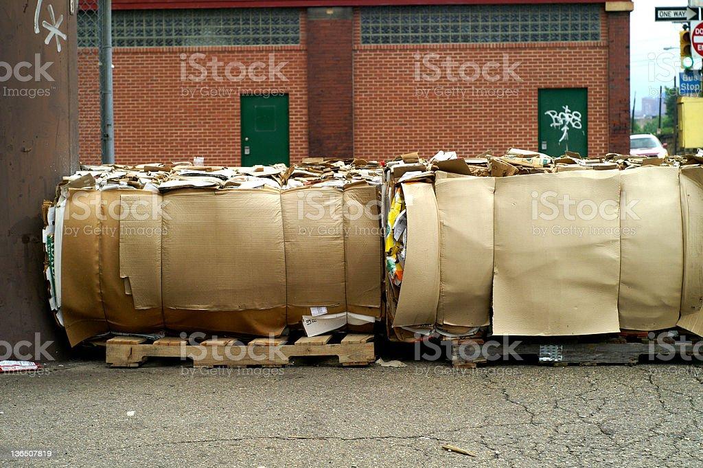 Cardboard Bales royalty-free stock photo