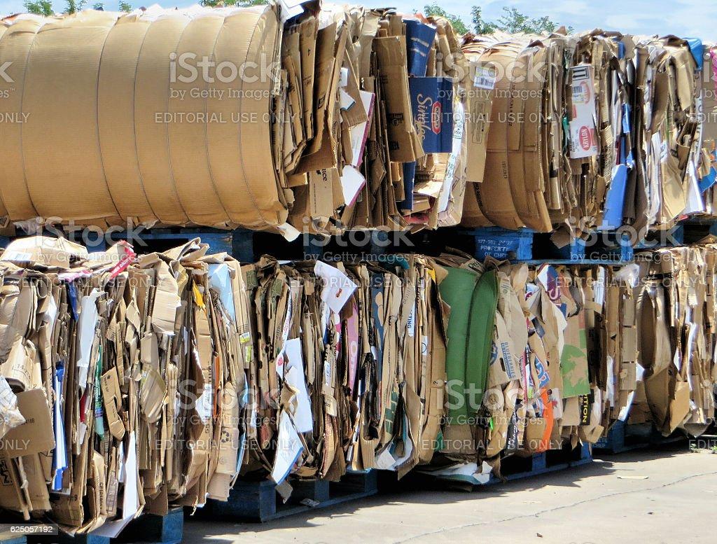 Cardboard Bales stock photo