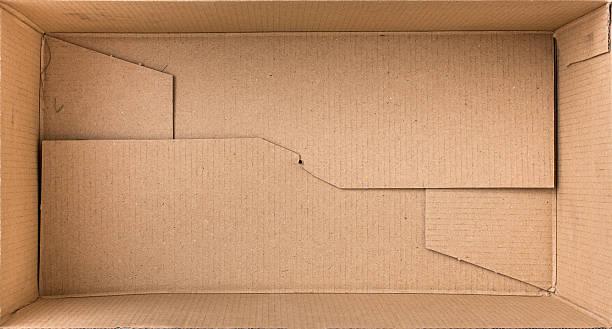 cardboard box for things. - puste pudełko zdjęcia i obrazy z banku zdjęć