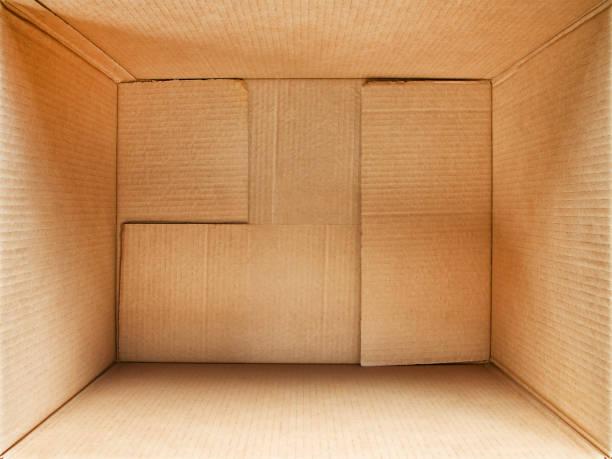 Cardboard box interior - foto stock