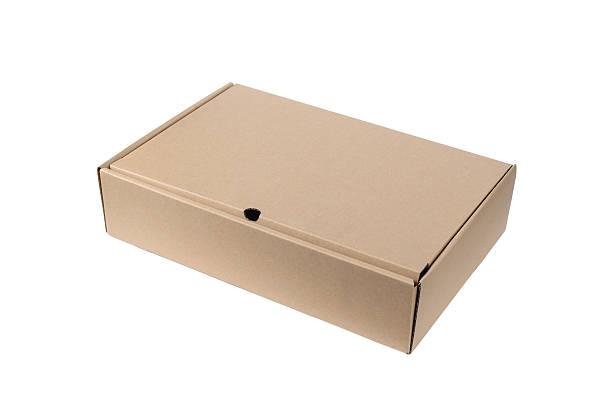 Cardboard Box isolated on White background stok fotoğrafı