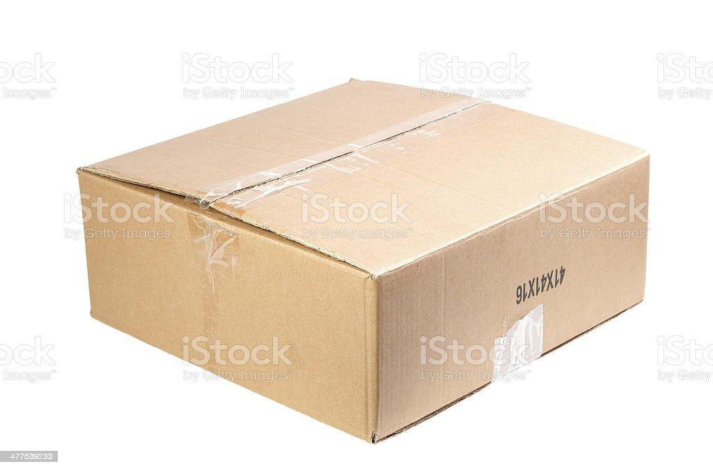 cardboard box isolated on white background stock photo