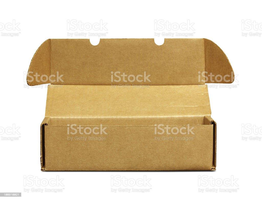 cardboard box isolated royalty-free stock photo