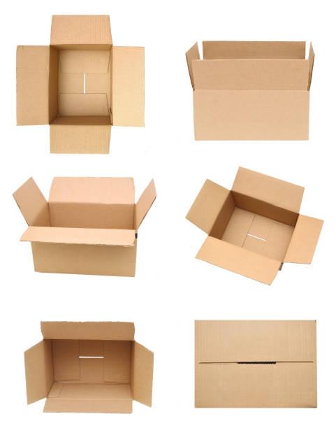 cardboard box. open - puste pudełko zdjęcia i obrazy z banku zdjęć