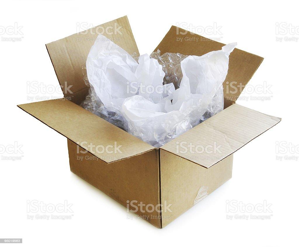 Cardboard Box Open stock photo