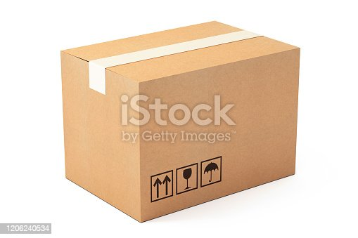 collection of various carton box of isolated on white background Turkey - Middle East