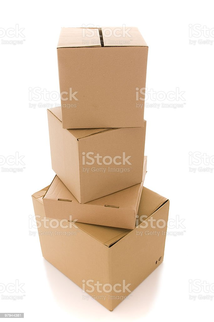 cardboard box parcels royalty-free stock photo
