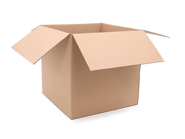 tekturowe pudełko - puste pudełko zdjęcia i obrazy z banku zdjęć