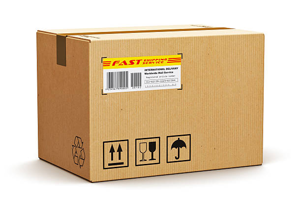 cardboard box - fragile stock pictures, royalty-free photos & images