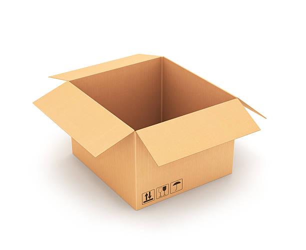 tekturowe pudełko. - puste pudełko zdjęcia i obrazy z banku zdjęć