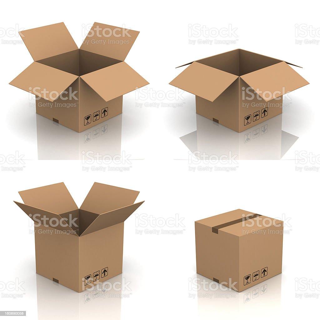 Cardboard box set XXXL stock photo