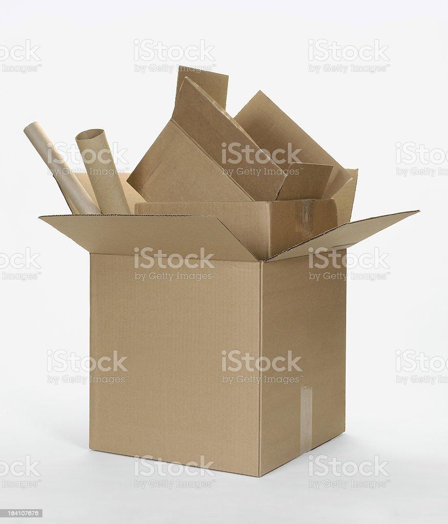 Cardboard Box Stack royalty-free stock photo