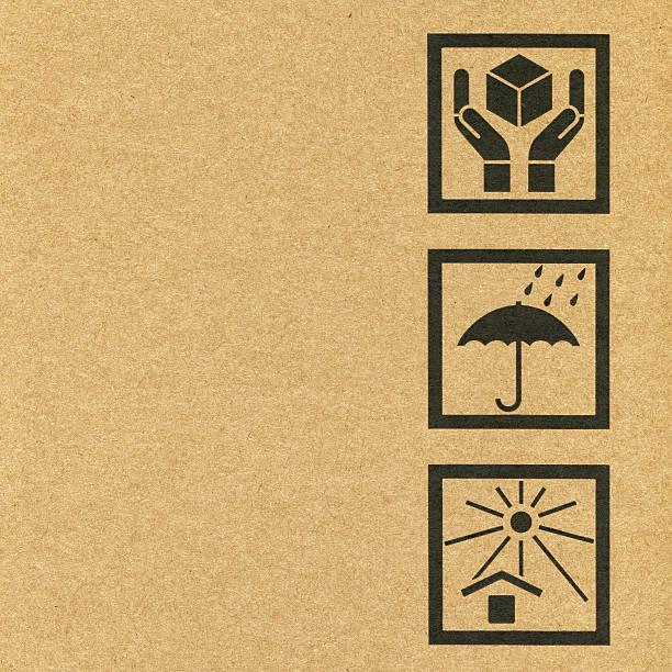Pappkarton Symbole – Foto
