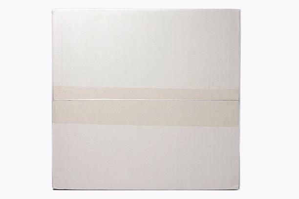 Caja de cartón de cinta textura de fondo. - foto de stock