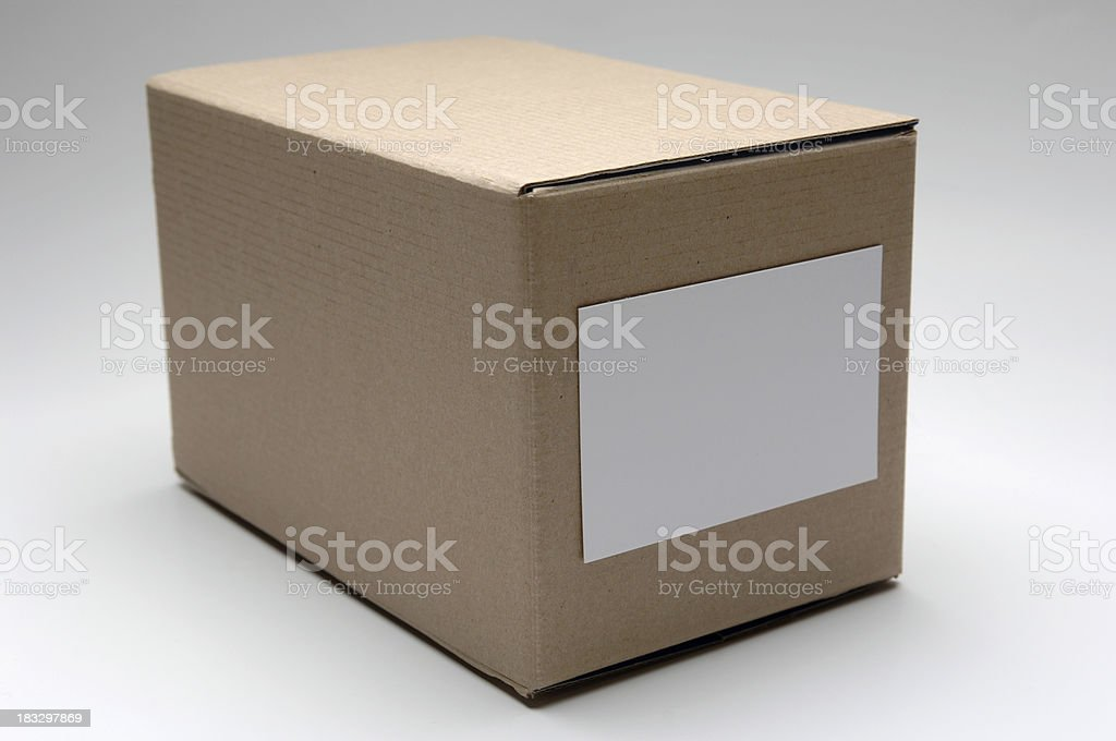 cardboard box with label - add text royalty-free stock photo