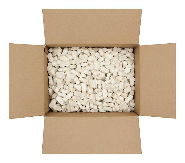tekturowe pudełko ze styropianu wysyłki - puste pudełko zdjęcia i obrazy z banku zdjęć