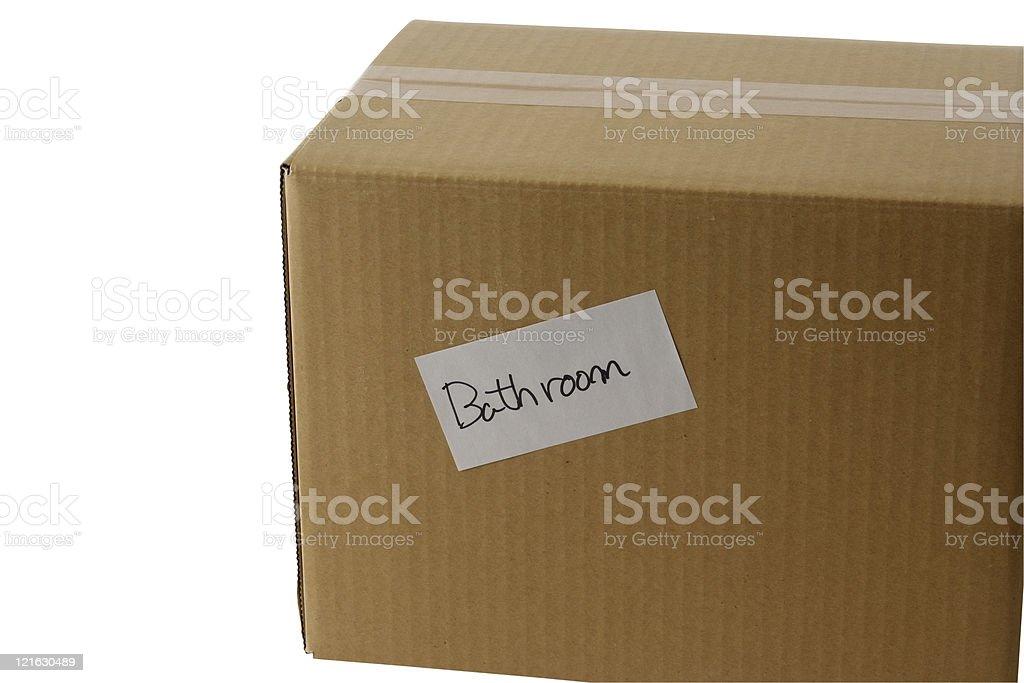 Papelão Corrugado para mudar de casa - foto de acervo