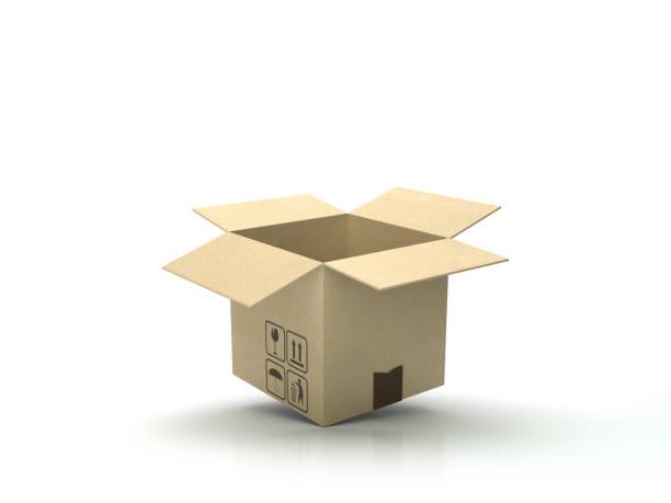 Karton Holzboden - 3D Rendering – Foto