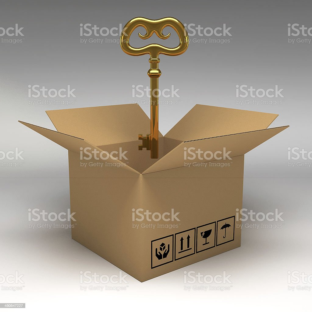 Cardboard boxes 3d illustration royalty-free stock photo