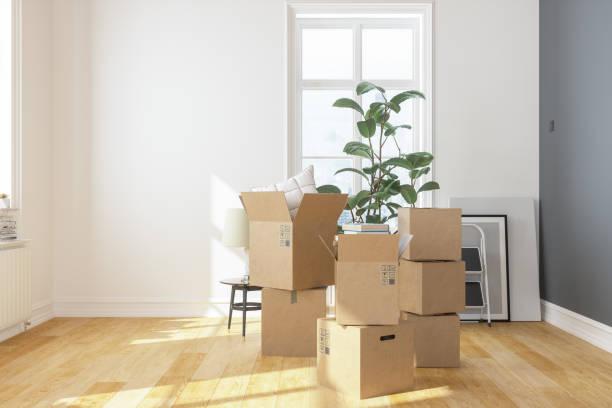 Kartons in der neuen Wohnung – Foto
