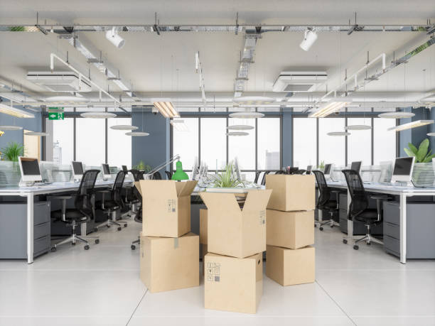 Kartons im neuen Büro – Foto