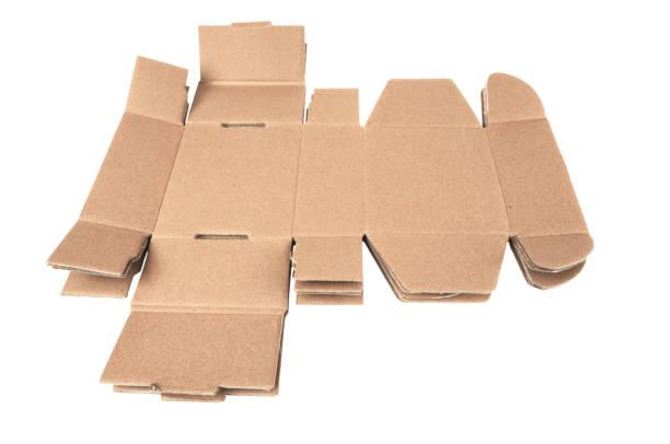 kartons geöffnet, flach - box falten stock-fotos und bilder