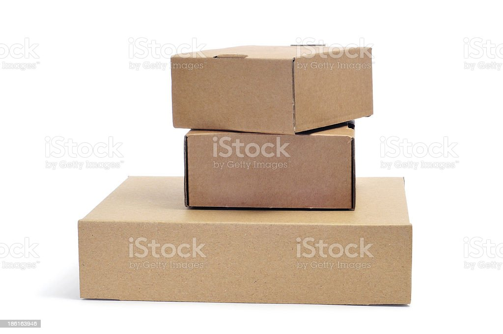 cardboard boxes royalty-free stock photo