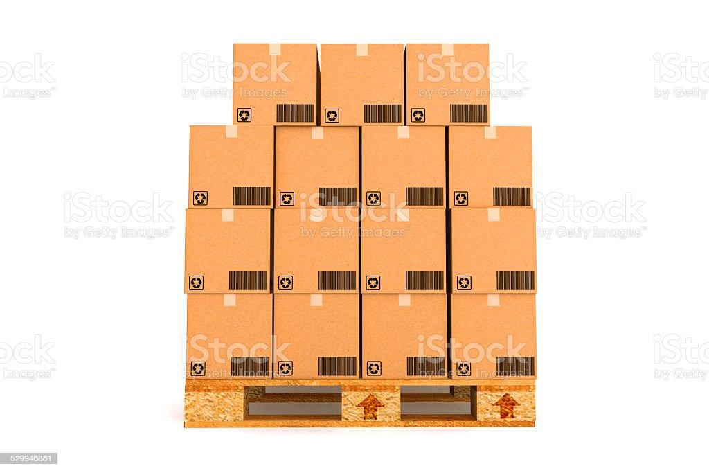 Boîtes en carton. - Photo